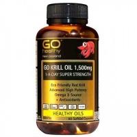 【限时特价】GO Healthy 南极磷虾油1500mg 60粒(Krill Oil)保质期至21.12