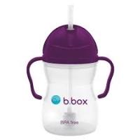 B.box 儿童/宝宝吸管杯 重力防漏婴幼儿学饮杯240ml- 葡萄紫(升级版)
