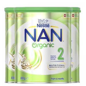 【澳洲直邮包邮】Nestle NAN 雀巢能恩 有机2段*3罐  参考日期20年5月