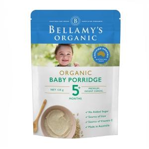 【澳洲直邮】Bellamy's 贝拉米 有机婴幼儿麦片粥 5个月以上 125g(新包装)