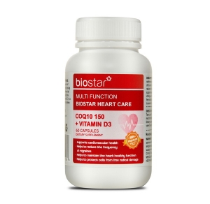Biostar 葆星 多功效护心辅酶150+V D3 60粒 保质期至21.10