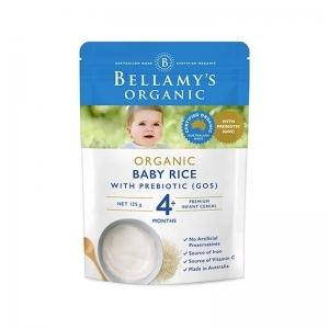 【国内现货】Bellamy's 贝拉米 有机婴幼儿米糊 4个月以上宝宝 125g (新包装)2019.10
