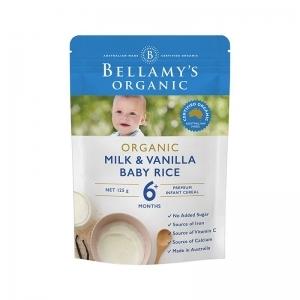 【国内现货】Bellamy's 贝拉米 有机麦片米糊 香草味 6个月以上 125g  保质期:2020.2