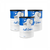 【新西兰直邮包邮】Farm Field 牧菲德 全脂奶粉 900g(3罐装) 保质期至2021年7月