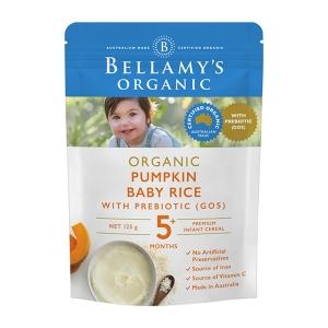 【澳洲直邮】Bellamy's 贝拉米 有机婴幼儿南瓜益生元米粉125g 5个月以上 125g
