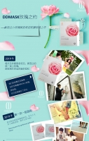 【买1送1】DDmask 玫瑰精华面膜15ml*3片/盒