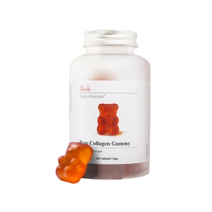 【澳洲直邮】Unichi 玫瑰胶原蛋白小熊软糖 60粒 参考日期22.08